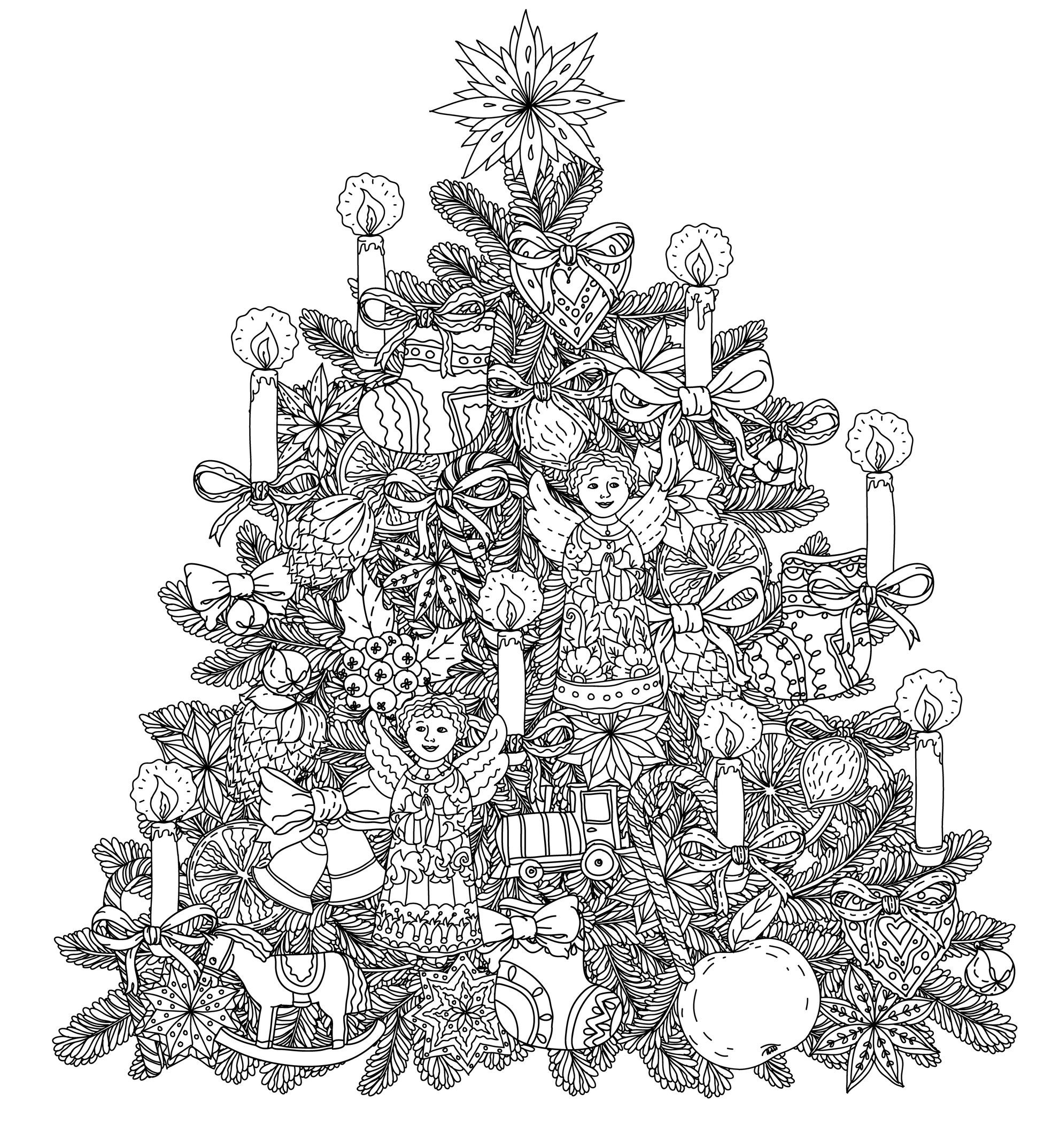 Best ideas about Adult Christmas Coloring Books . Save or Pin Christmas Coloring Pages for Adults 2018 Dr Odd Now.