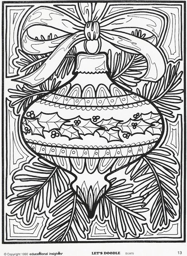 Best ideas about Adult Christmas Coloring Books . Save or Pin 21 Christmas Printable Coloring Pages Now.