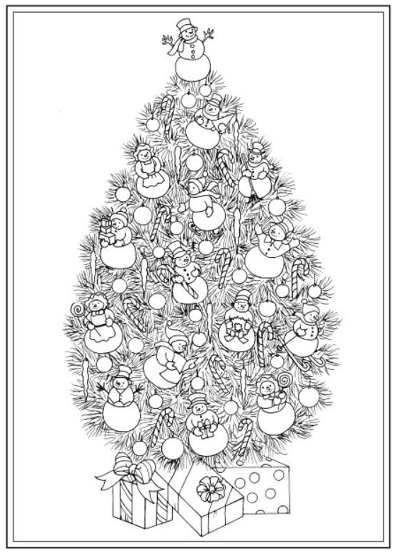 Best ideas about Adult Christmas Coloring Books . Save or Pin Christmas Tree Coloring Pages for Adults 2018 Dr Odd Now.