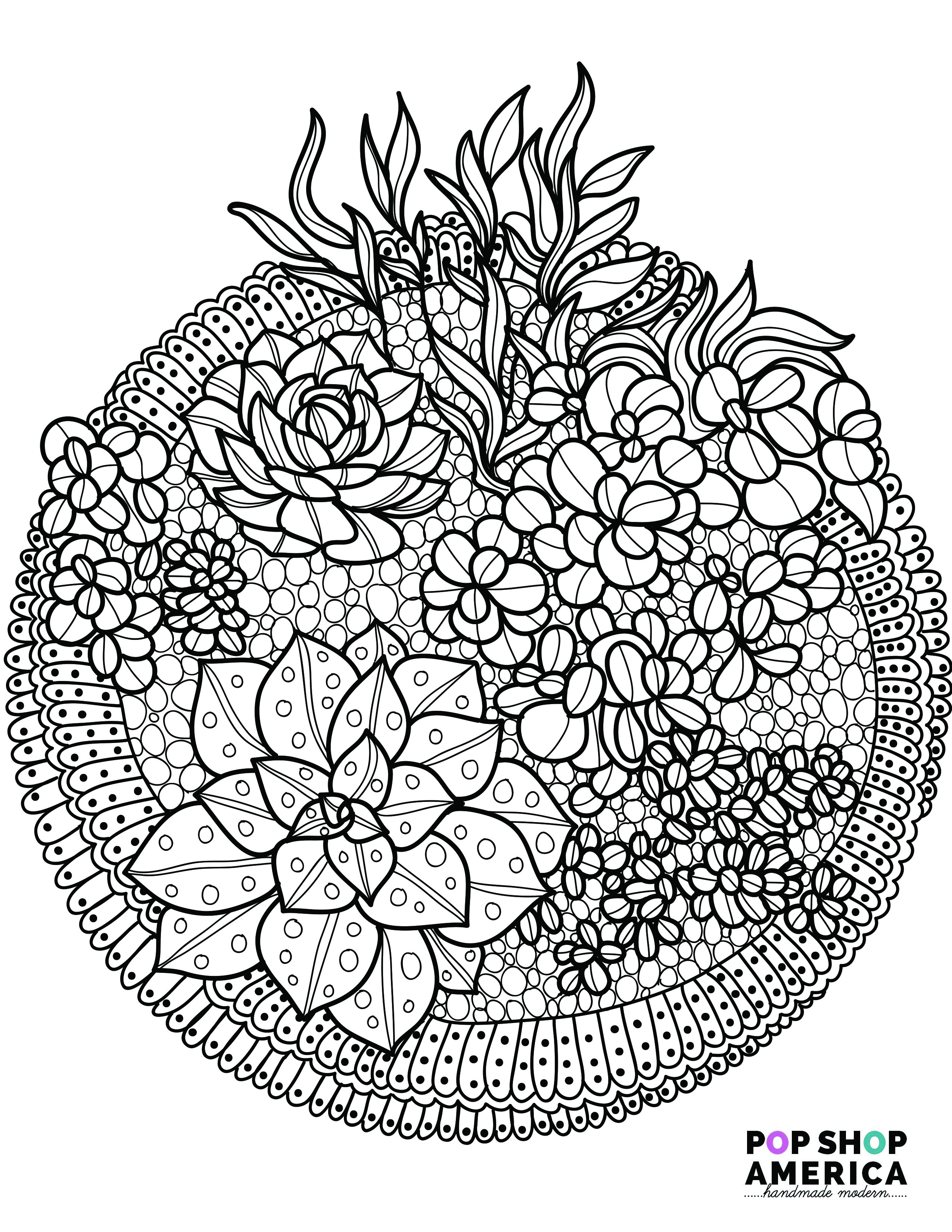 Best ideas about Adult Coloring Books . Save or Pin Free Adult Coloring Book Pages with Succulent Terrariums Now.