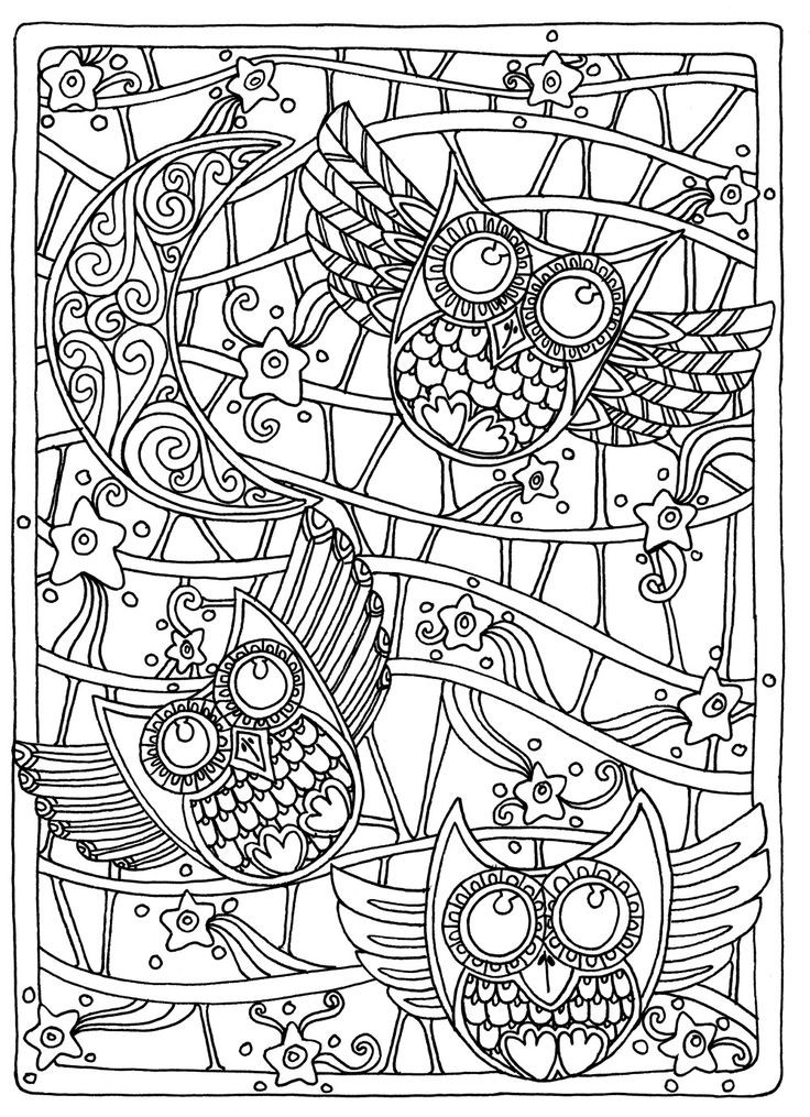 Best ideas about Adult Coloring Books . Save or Pin OWL Coloring Pages for Adults Free Detailed Owl Coloring Now.