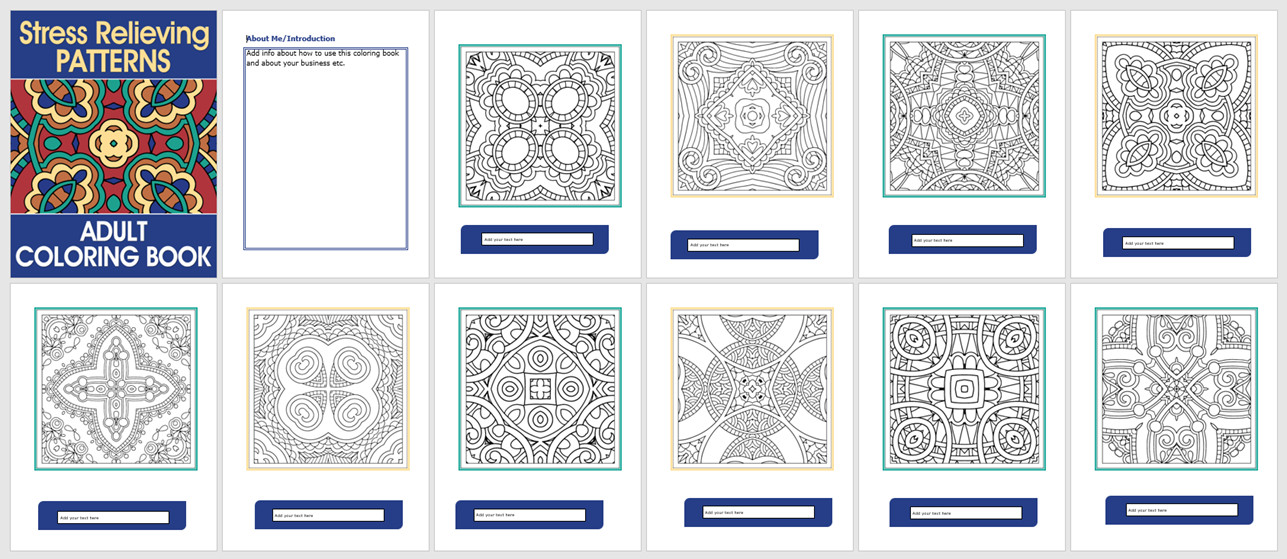 Best ideas about Adult Coloring Books Stress Relieving Patterns . Save or Pin Stress Relieving Patterns Adult Coloring Book Now.