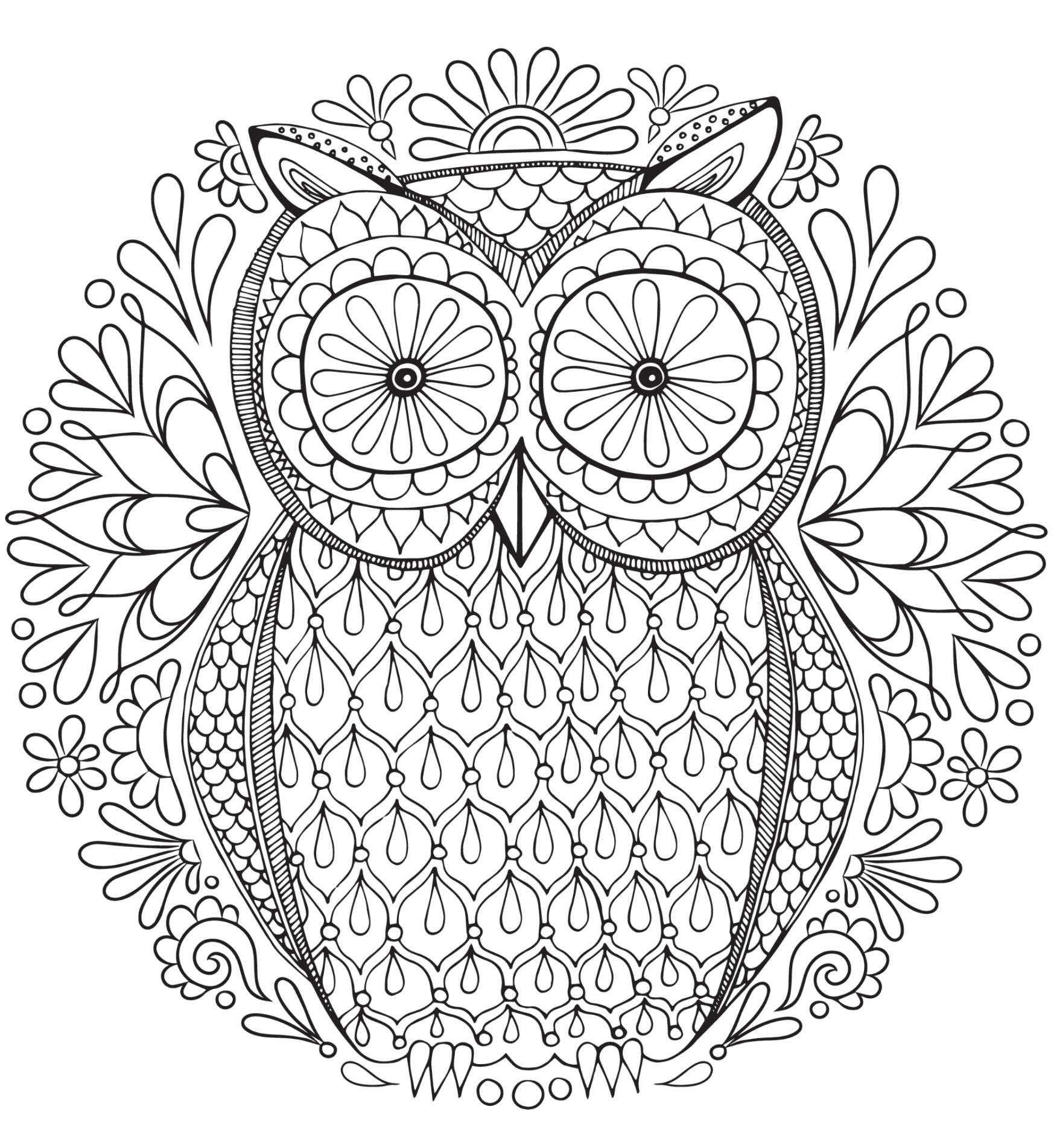Best ideas about Adult Printable Coloring Pages . Save or Pin 20 Free Adult Colouring Pages The Organised Housewife Now.