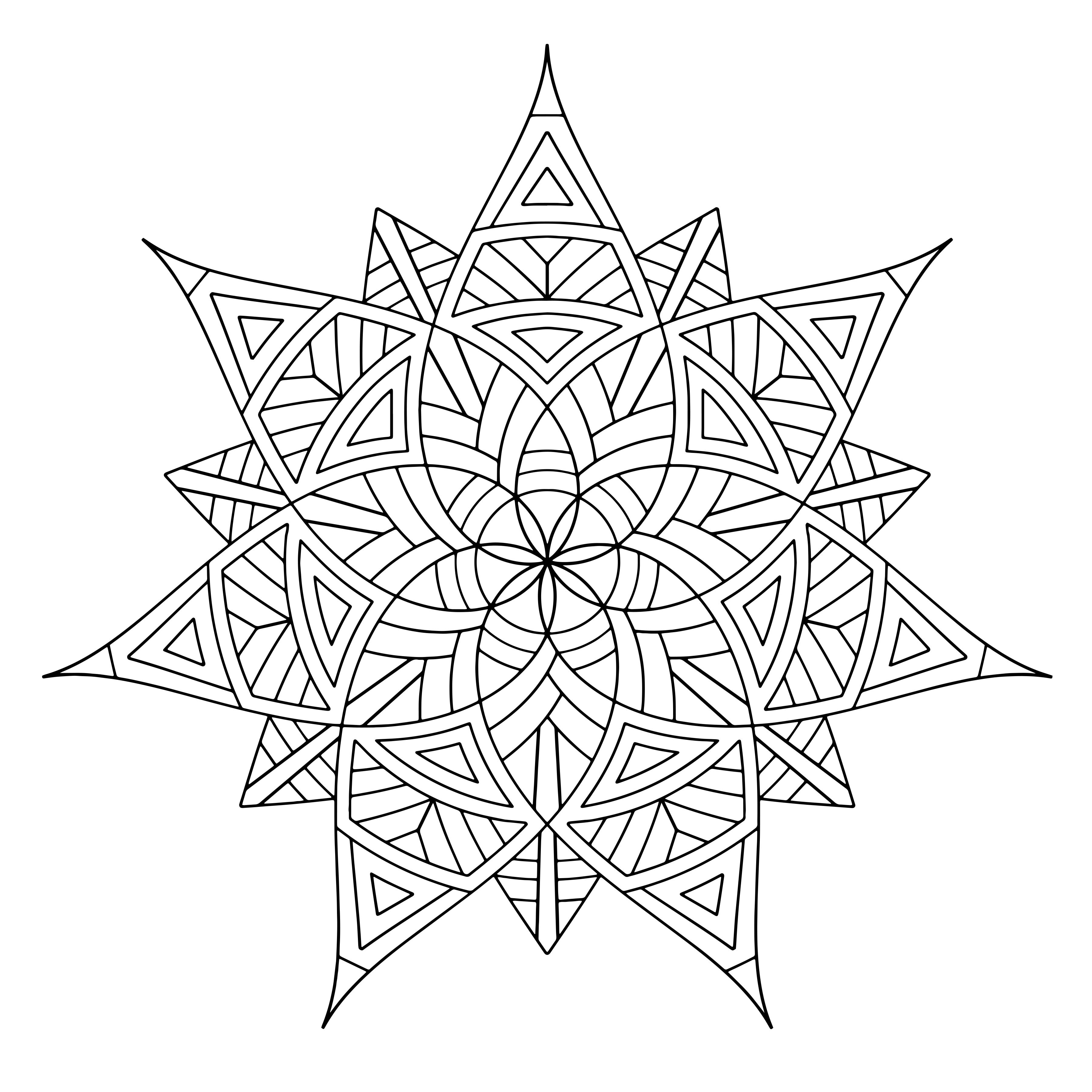 Best ideas about Adult Printable Coloring Pages . Save or Pin Free Printable Geometric Coloring Pages for Adults Now.