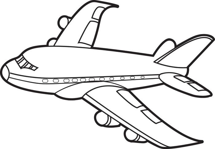 Best ideas about Airplane Coloring Pages For Kids . Save or Pin Airplane clipart coloring page Pencil and in color Now.