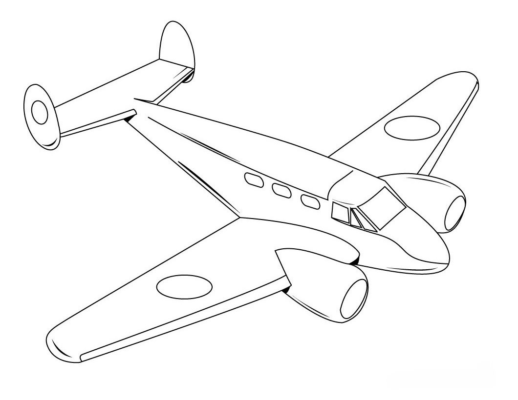 Best ideas about Airplane Coloring Pages For Kids . Save or Pin Free Printable Airplane Coloring Pages For Kids Now.