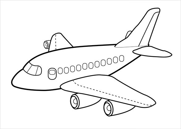 Best ideas about Airplane Coloring Pages For Kids . Save or Pin 18 Airplane Coloring Pages PDF JPG Now.
