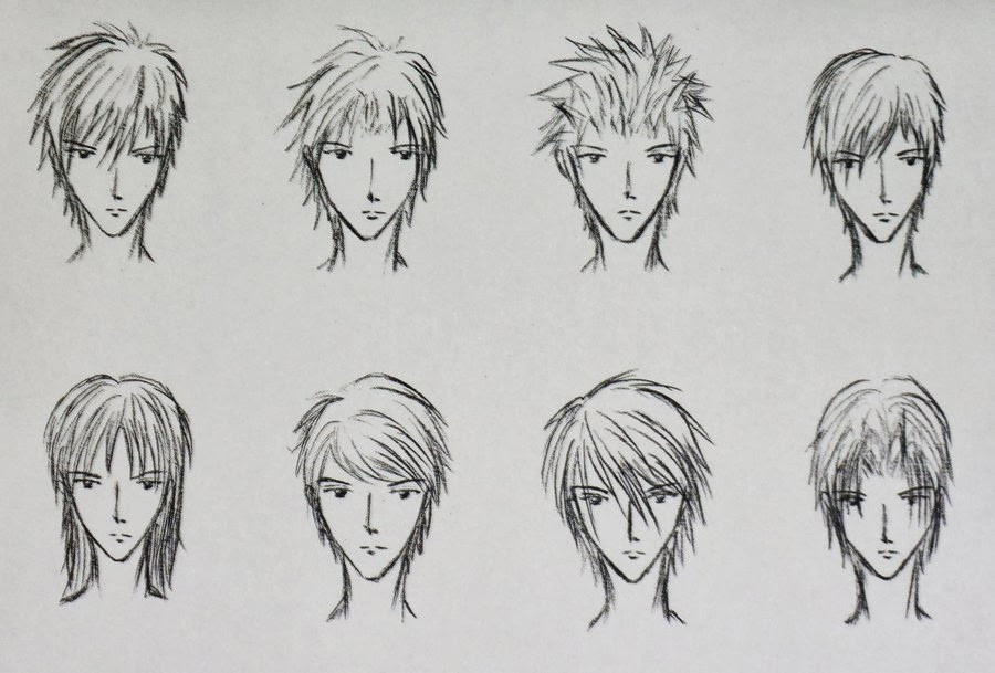 Best ideas about Anime Boy Hairstyles . Save or Pin Anime Guy Hairstyles Drawing PENCIL DRAWING COLLECTION Now.