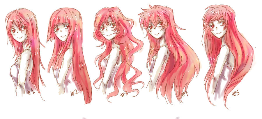 Best ideas about Anime Girl Long Hairstyles . Save or Pin Anime Long Hair References by nyuhatter on DeviantArt Now.