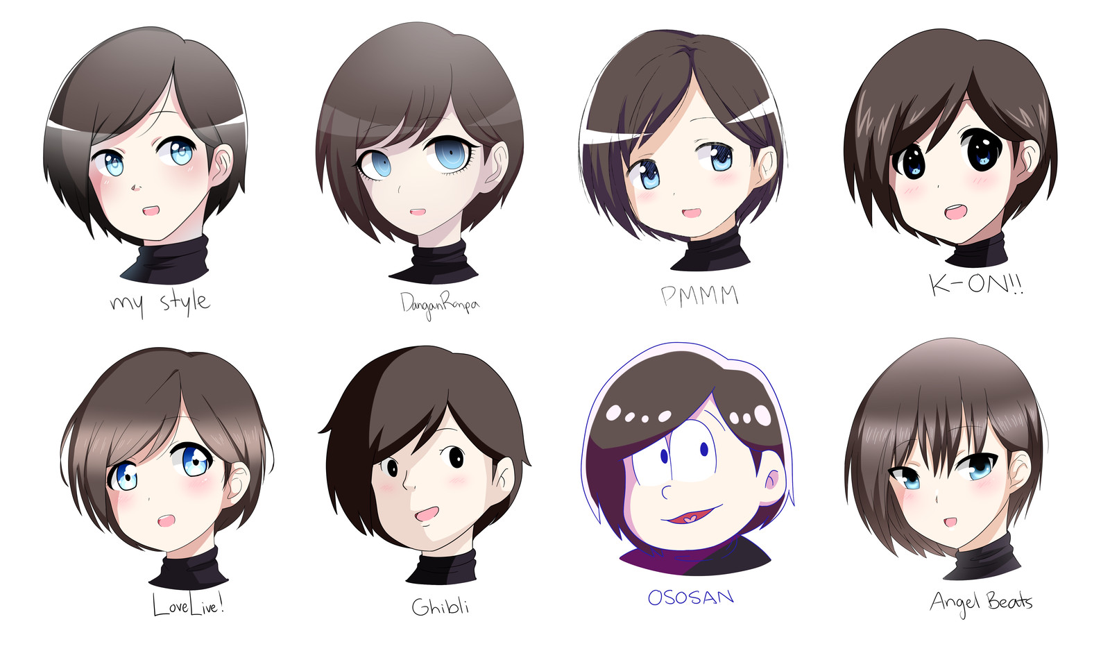 Best ideas about Anime Style Haircuts . Save or Pin Style Challenge 8 Different Anime Styles by karuuko on Now.