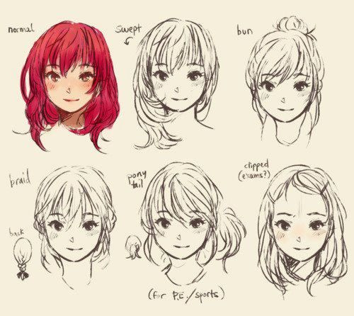 Best ideas about Anime Style Haircuts . Save or Pin Anime Hairstyles Anime References Pinterest Now.