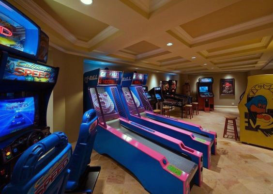 Best ideas about Arcade Game Room . Save or Pin 60 Game Room Ideas For Men Cool Home Entertainment Designs Now.