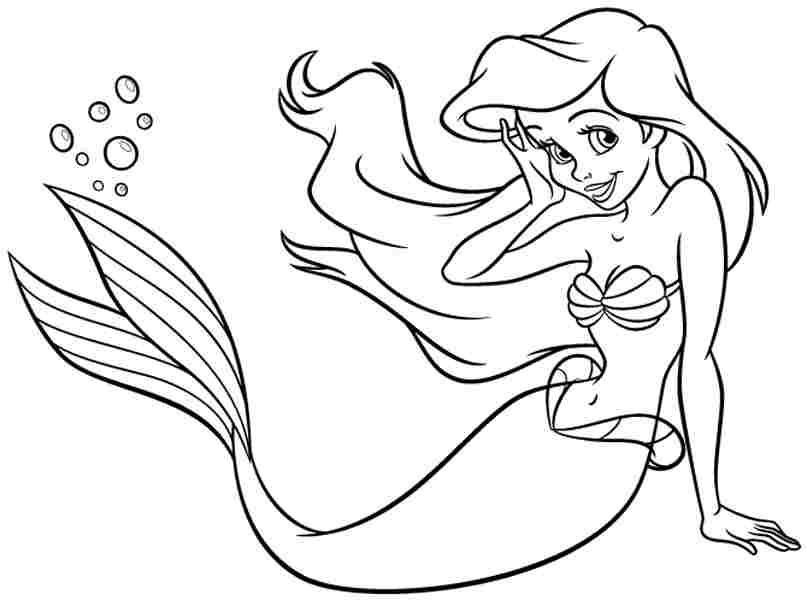 Best ideas about Ariel Princess Coloring Pages For Kids . Save or Pin Free Coloring Pages Free Disney Princess Ariel For Kids Now.