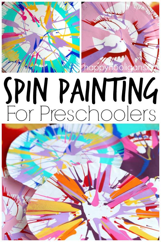 Best ideas about Art Ideas For Preschoolers . Save or Pin Spin Painting for Preschoolers Happy Hooligans Now.