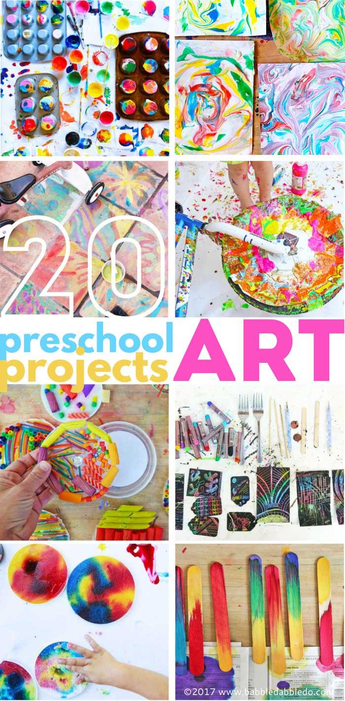 Best ideas about Art Ideas For Preschoolers . Save or Pin 20 Preschool Art Projects Babble Dabble Do Now.