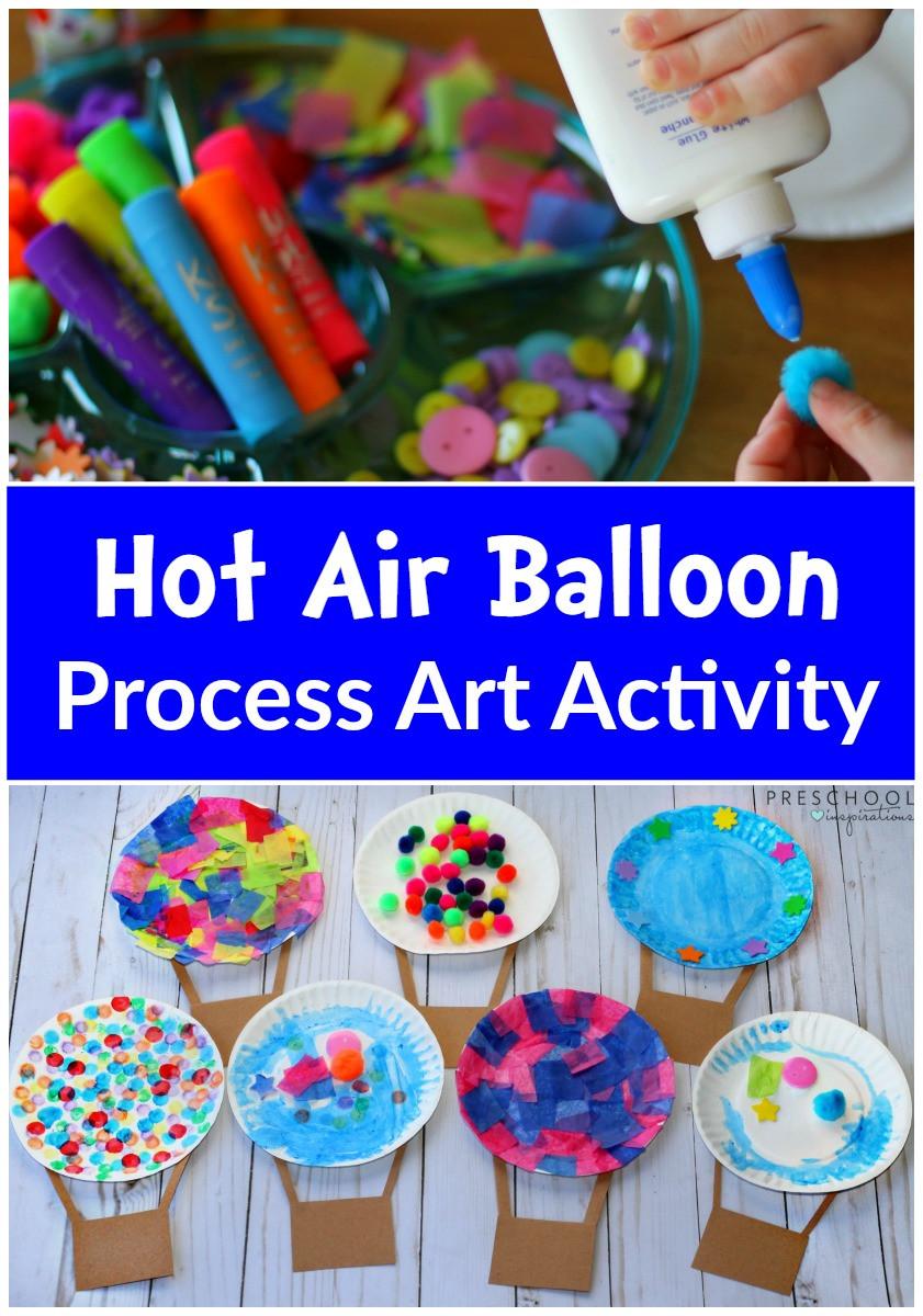 Best ideas about Art Ideas For Preschoolers . Save or Pin Hot Air Balloon Process Art Activity Preschool Inspirations Now.