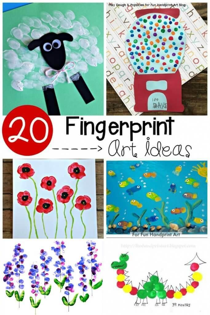 Best ideas about Art Ideas For Preschoolers . Save or Pin 20 Adorable Fingerprint Art Ideas Playdough To Plato Now.