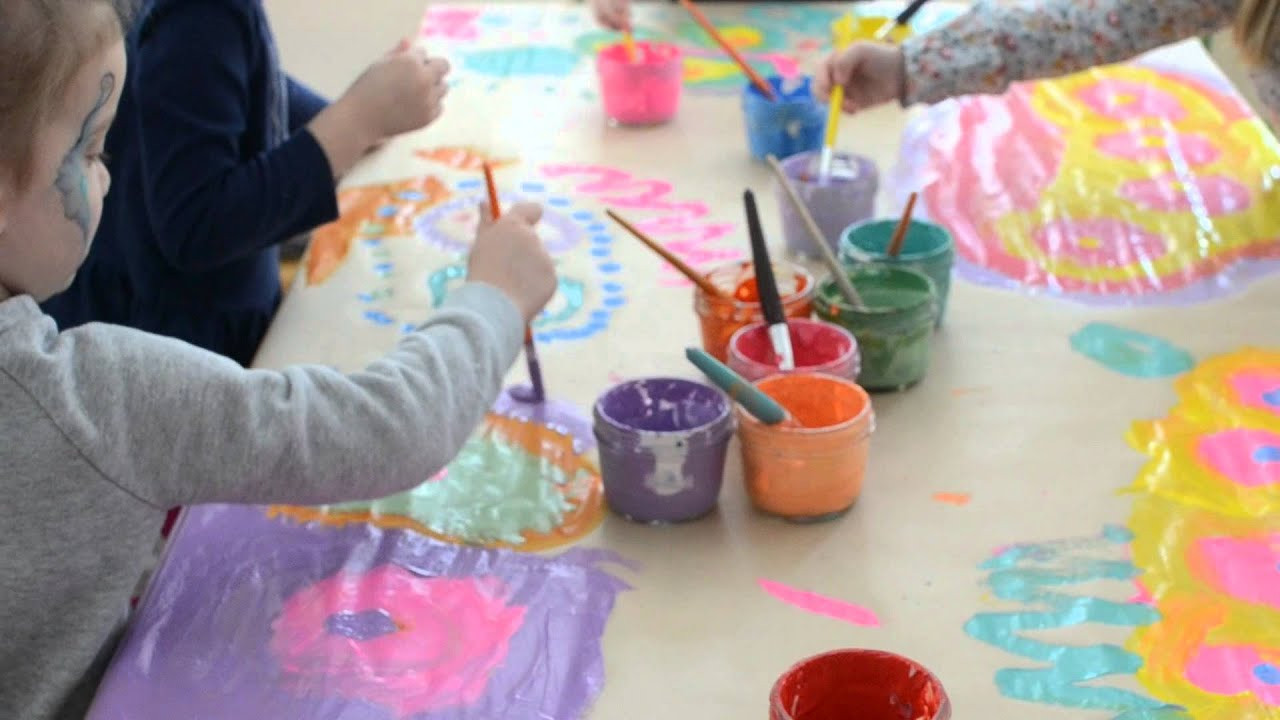 Best ideas about Art With Kids . Save or Pin Collaborative Painting with Kids Now.