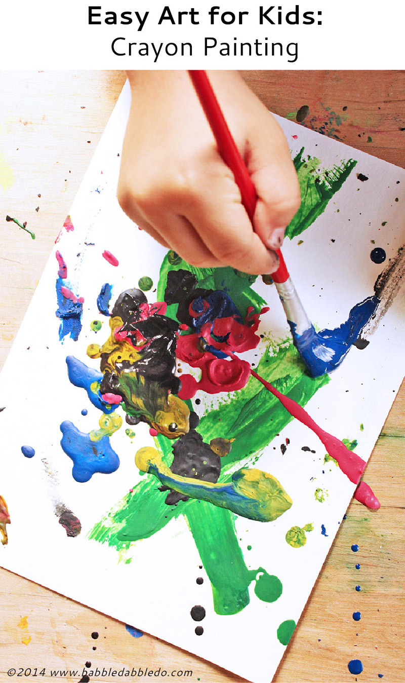 Best ideas about Art With Kids . Save or Pin Easy Art for Kids Crayon Painting Babble Dabble Do Now.