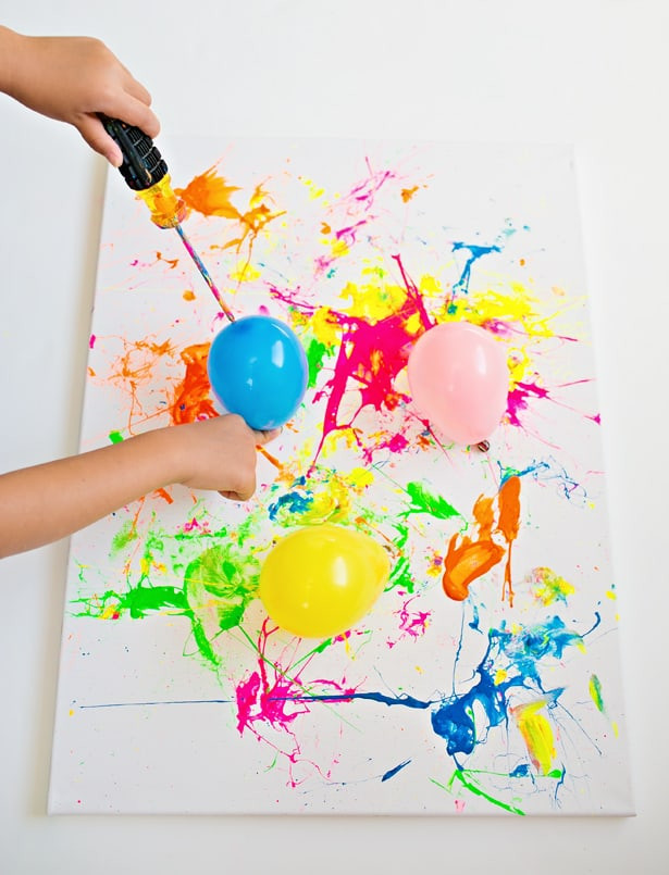 Best ideas about Art With Kids . Save or Pin BALLOON SPLATTER PAINTING WITH TOOLS FUN OUTDOOR ART Now.