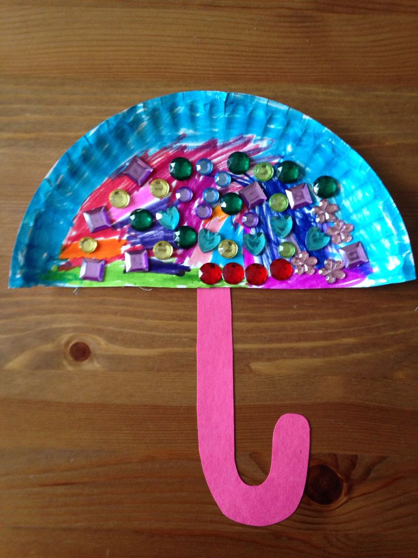 Best ideas about Arts And Crafts For Preschoolers . Save or Pin Paper Plate Umbrella Craft Preschool Craft Now.