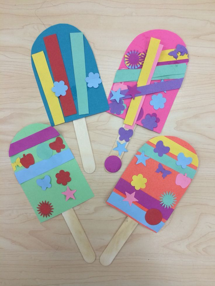 Best ideas about Arts And Crafts For Preschoolers . Save or Pin Popsicle Summer Art Craft for Preschoolers Kindergarten Now.