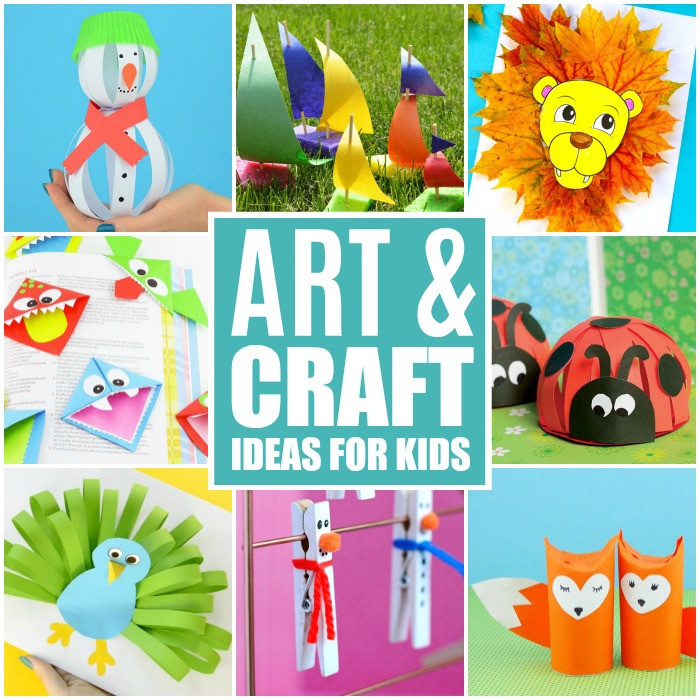 Best ideas about Arts And Crafts For Toddlers . Save or Pin Crafts For Kids Tons of Art and Craft Ideas for Kids to Now.