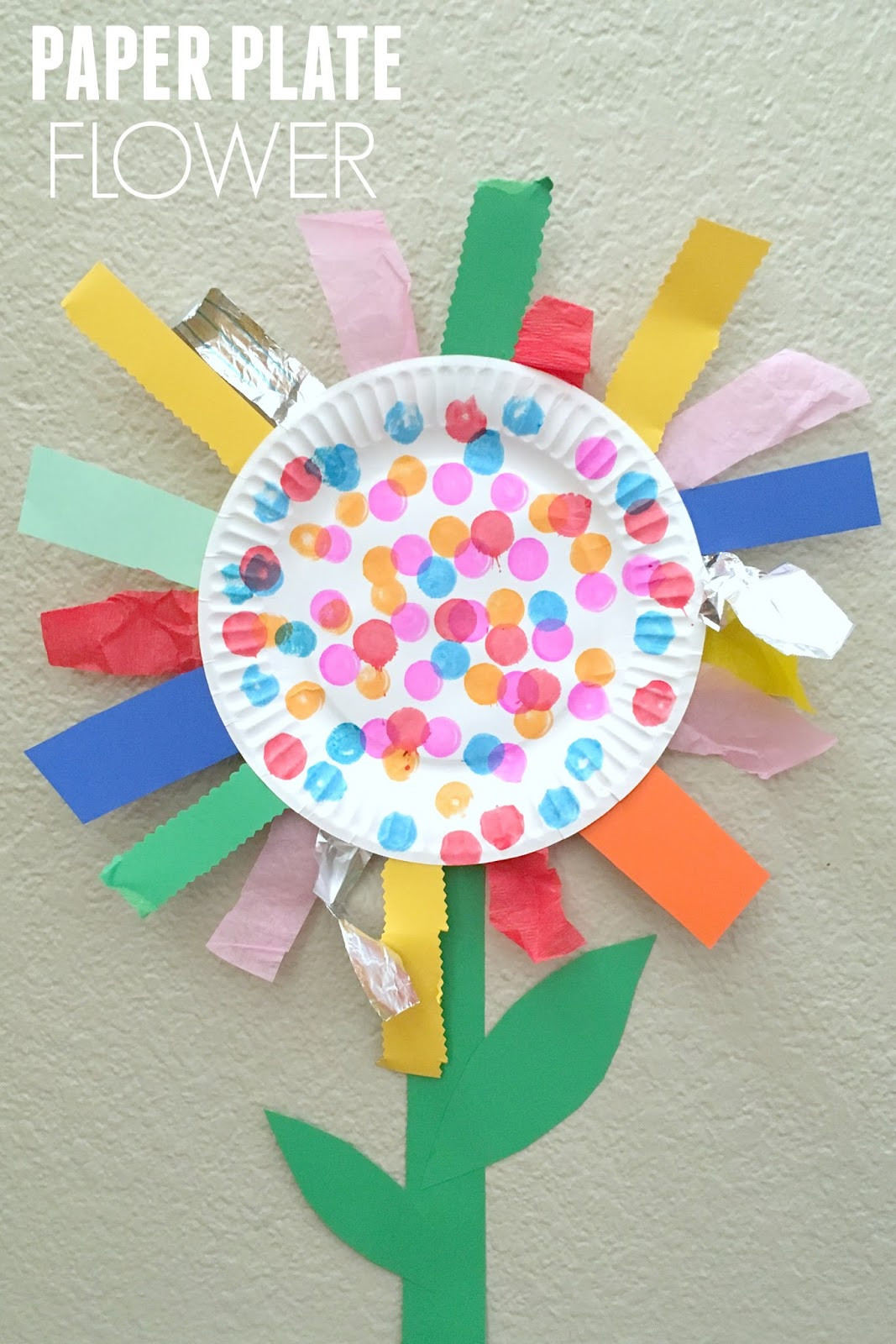 Best ideas about Arts And Crafts For Toddlers . Save or Pin Toddler Approved Paper Plate Flower Fine Motor Craft Now.