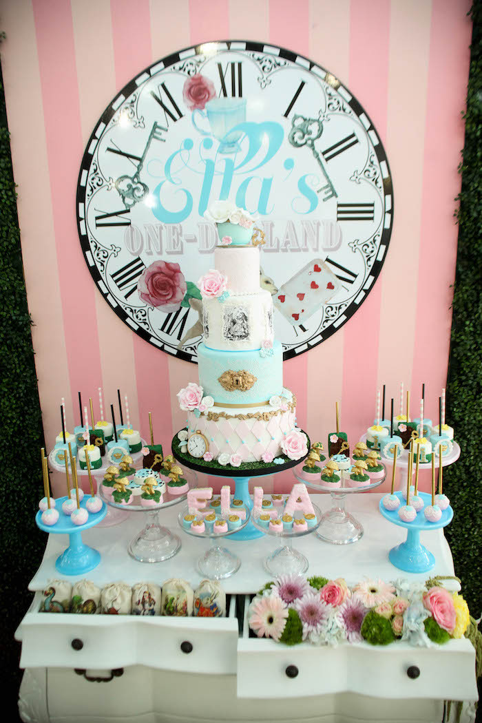 Best ideas about Babies Birthday Decorations . Save or Pin Kara s Party Ideas Alice in Wonderland Birthday Party Now.