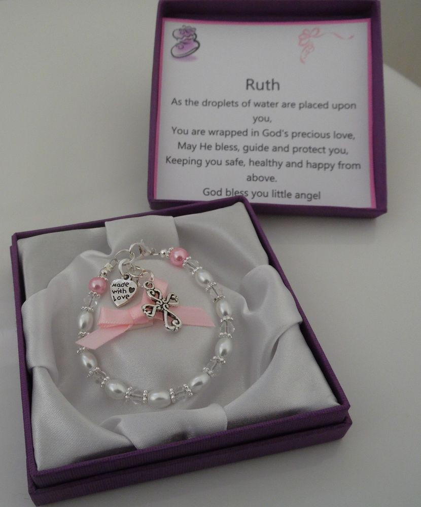 Best ideas about Baby Baptism Gift Ideas . Save or Pin Baby Girl Boy christening t personalised bracelet Now.