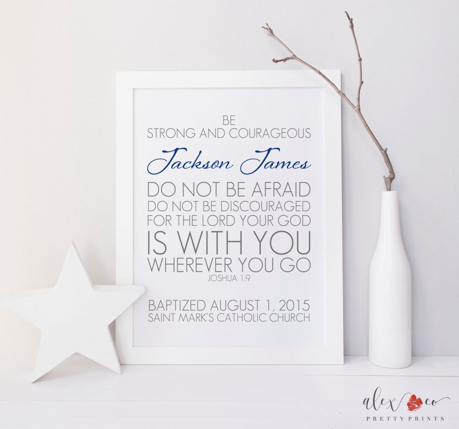 Best ideas about Baby Baptism Gift Ideas . Save or Pin Baptism Printable Personalized Baptism Gift Baptism Prayer Now.