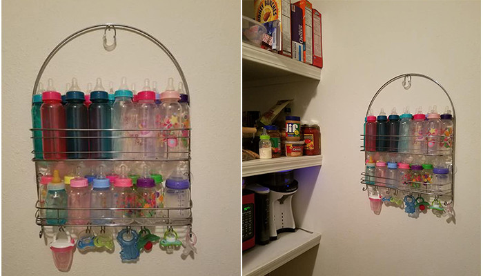 Best ideas about Baby Bottle Storage Ideas . Save or Pin Genius Baby Bottle Storage Hack Mom Uses Shower Caddy Now.