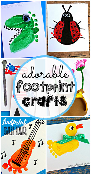 Best ideas about Baby Footprint Craft Ideas . Save or Pin Adorable Footprint Crafts for Kids to Make Crafty Morning Now.