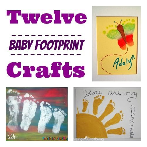 Best ideas about Baby Footprint Craft Ideas . Save or Pin 12 Clever Crafts Featuring Baby s Footprints Now.