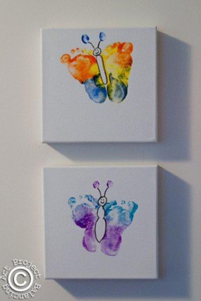 Best ideas about Baby Footprint Craft Ideas . Save or Pin Baby footprints = butterfly Gift Ideas Now.