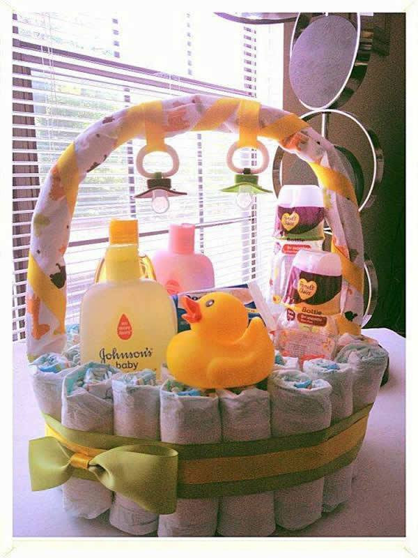 Best ideas about Baby Gift Baskets Ideas . Save or Pin 90 Lovely DIY Baby Shower Baskets for Presenting Homemade Now.