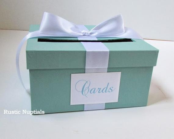 Best ideas about Baby Shower Gift Card Holder Ideas . Save or Pin Items similar to Wedding Card Box Tiffany Baby Shower Card Now.