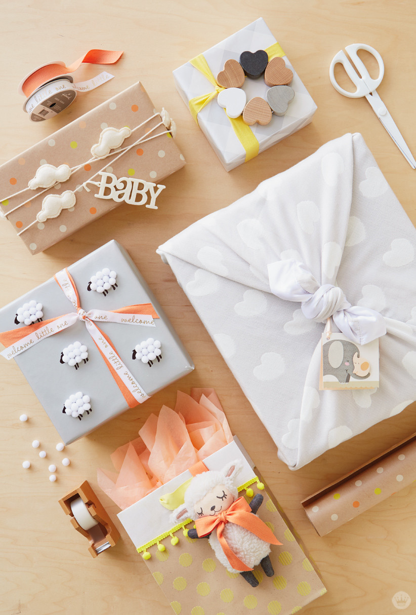 Best ideas about Baby Shower Gift Wrap Ideas . Save or Pin Baby t wrap ideas Showered with love Think Make Now.