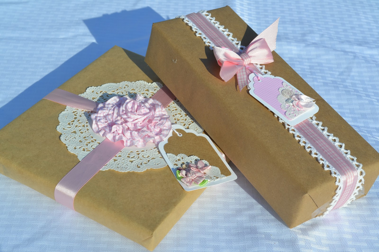 Best ideas about Baby Shower Gift Wrap Ideas . Save or Pin Corner of Plaid and Paisley Baby Shower Gift Wrap Now.
