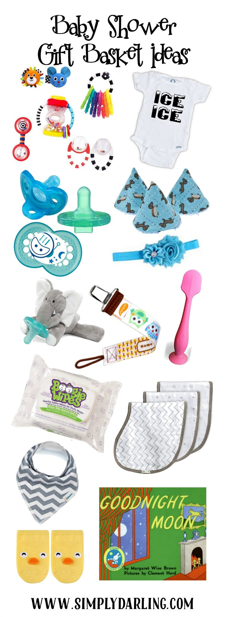 Best ideas about Baby Sprinkle Gift Ideas . Save or Pin Baby Shower Gift Basket Ideas Simply Darrling Now.