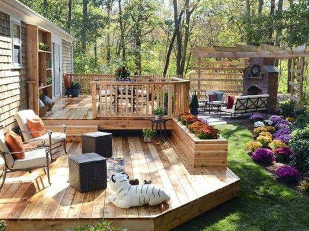 Best ideas about Backyard Deck Ideas On A Budget . Save or Pin backyard deck ideas on a bud Outdoor love Now.