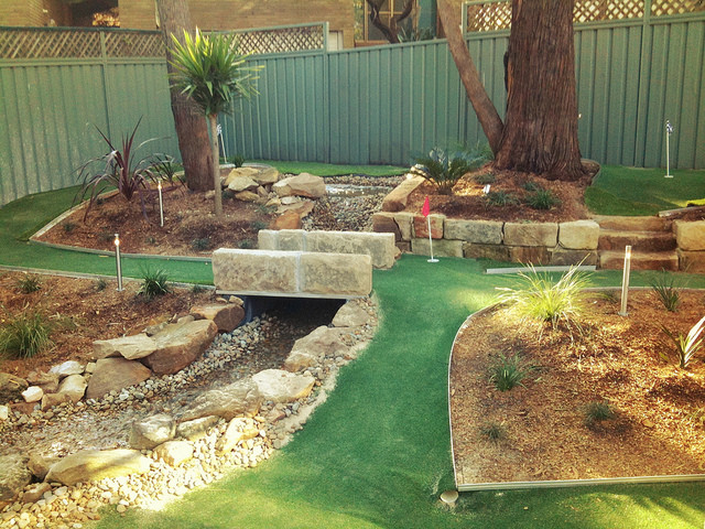Best ideas about Backyard Mini Golf . Save or Pin Backyard miniature golf course large and beautiful Now.