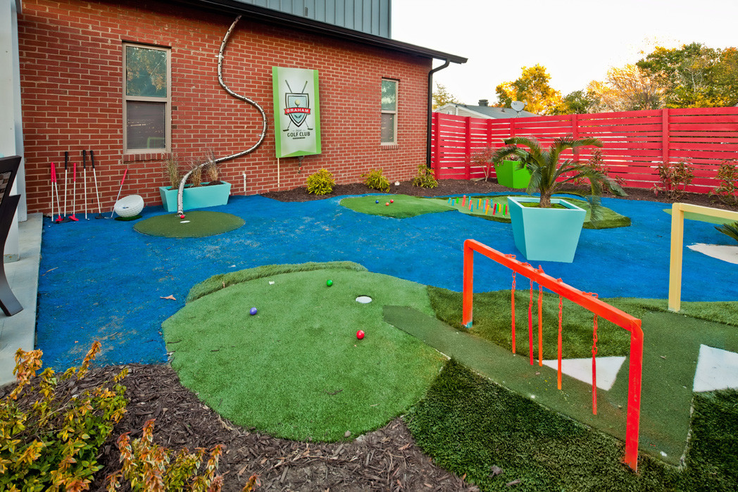 Best ideas about Backyard Mini Golf . Save or Pin Backyard mini golf course large and beautiful photos Now.
