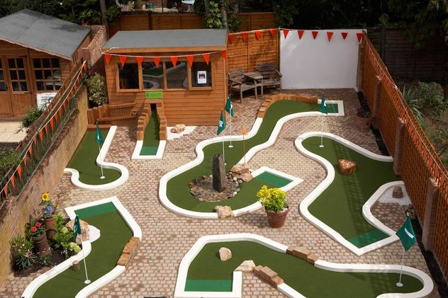 Best ideas about Backyard Mini Golf . Save or Pin Backyard Mini Golf Layout by Urban Crazy Now.