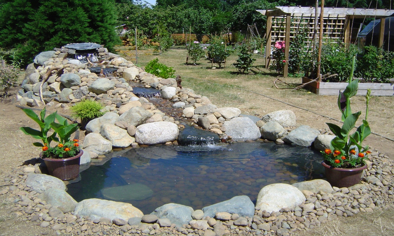 Best ideas about Backyard Ponds With Waterfalls . Save or Pin Outdoor jacuzzi ideas backyard fish pond waterfall small Now.