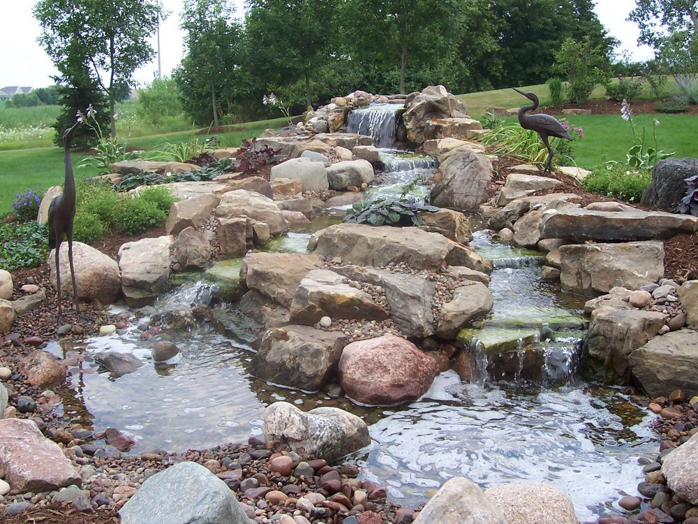 Best ideas about Backyard Ponds With Waterfalls . Save or Pin The Best Front Yard Landscaping with Stones for Your House Now.