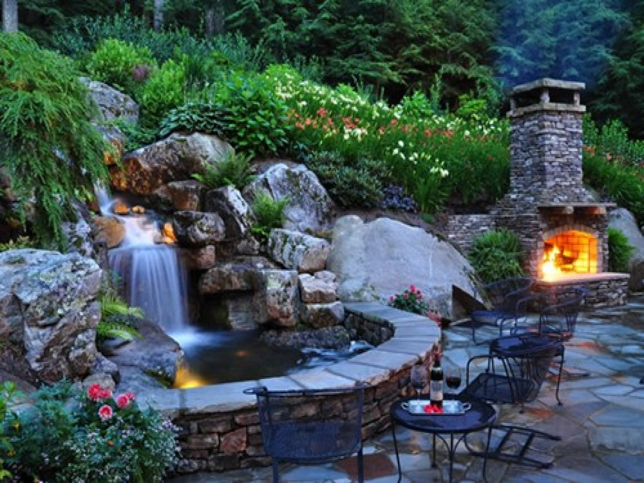 Best ideas about Backyard Ponds With Waterfalls . Save or Pin Best outdoor lights for patio homemade backyard ponds Now.
