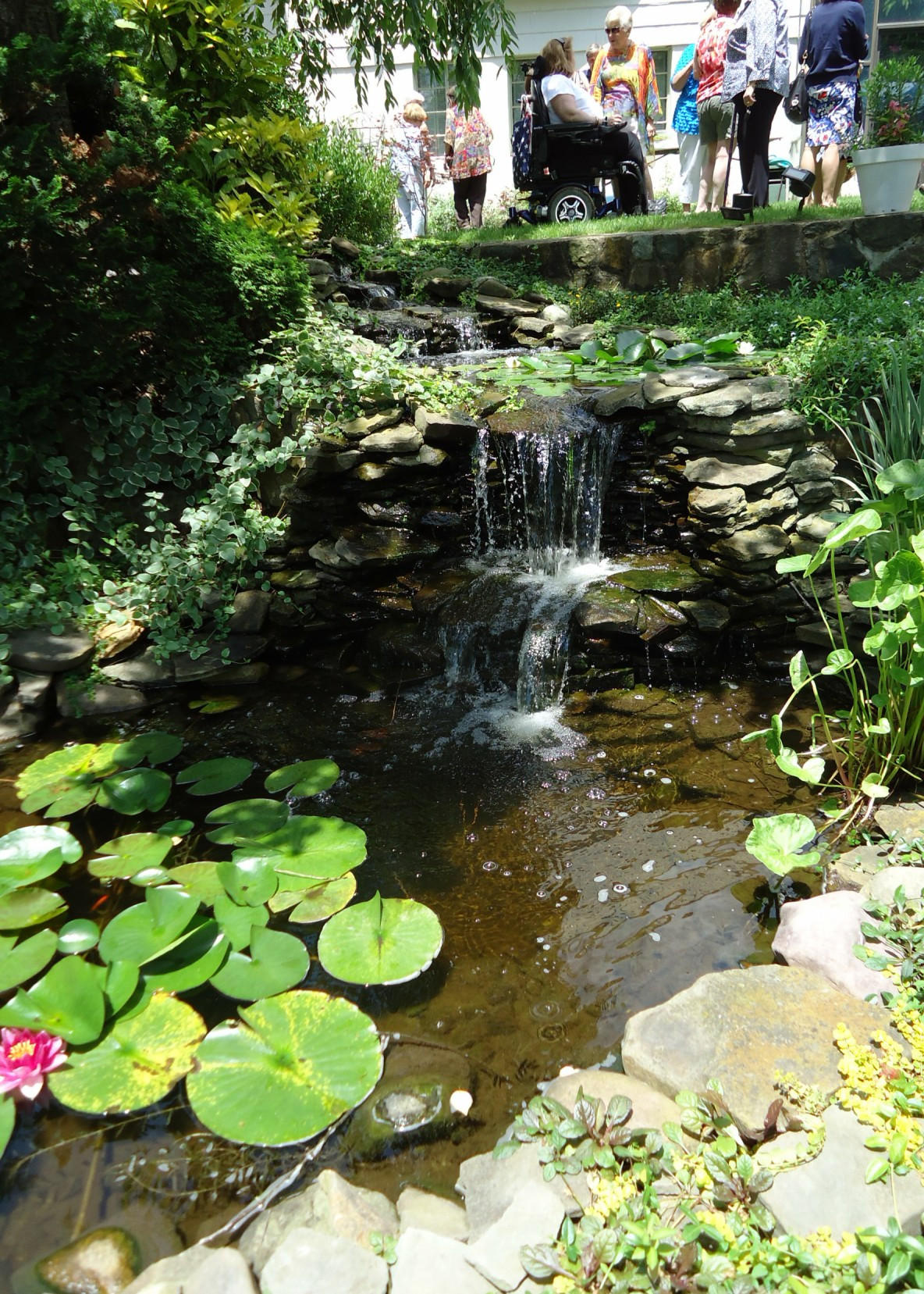 Best ideas about Backyard Ponds With Waterfalls . Save or Pin File Waterfall and pond at a garden party Now.