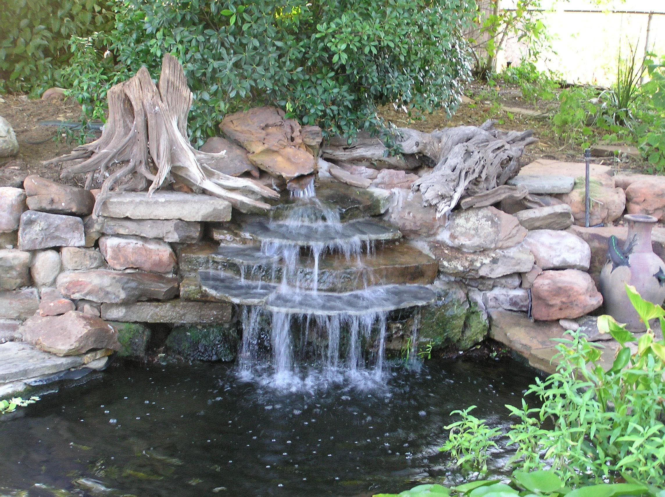 Best ideas about Backyard Ponds With Waterfalls . Save or Pin Garden Pond Waterfall Designs Now.