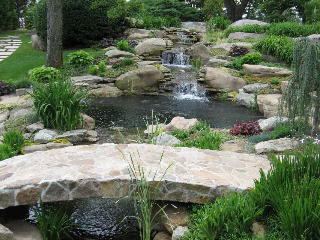 Best ideas about Backyard Ponds With Waterfalls . Save or Pin Waterfall fountains for backyard large and beautiful Now.